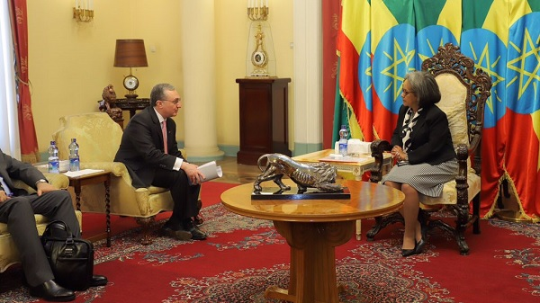 Armenian Foreign Minister visits Ethiopia, meets Armenian community